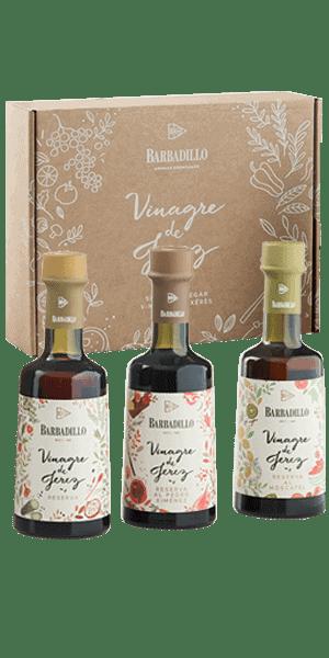 estuche vinagres de jerez reserva barbadillo