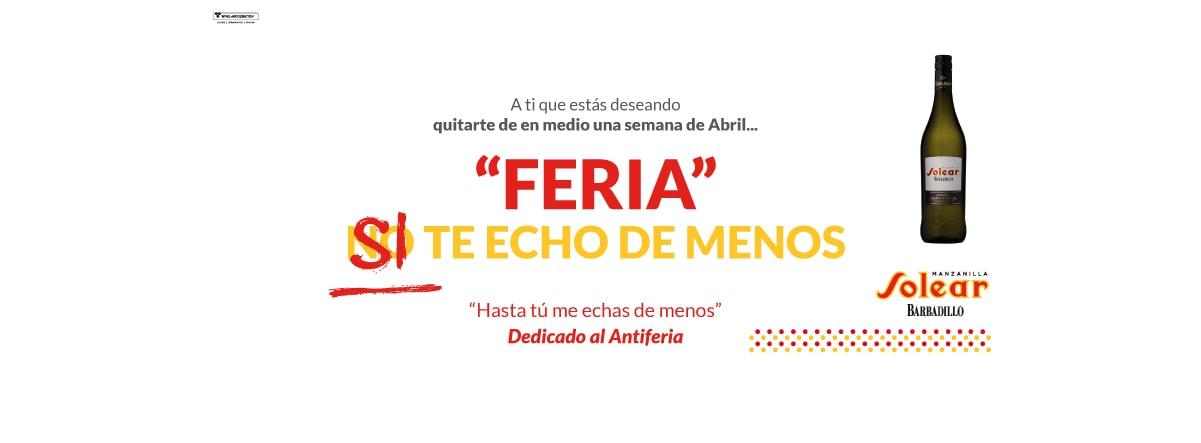 Manzanilla Solear dedica su campaña a aquellos que huían de la Feria de Abril