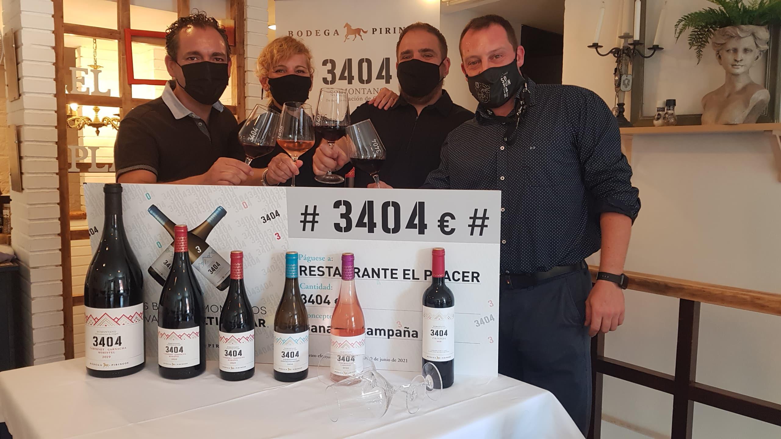 Bodega Pirineos reconoce el compromiso de la hostelería con 3404€